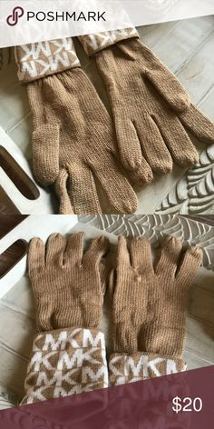 Michael Kors Knit Gloves Michael Kors Knit gloves Camel color with MK logo Very slight pilling Michael Kors Other