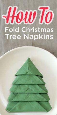 How To Fold Your Napkins Like a Christmas Tree