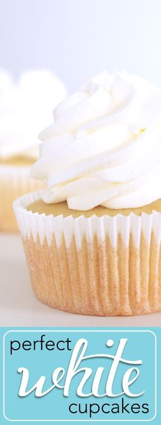 The perfect wedding cupcake is here! Beautifully w The perfect wedding cupcake is here! Beautifully w Wedding Cupcake Recipes, White Wedding Cupcakes, White Cupcakes, Almond Cupcakes, Summer Cupcakes, Champagne Cupcakes, Baking Cupcakes, Wedding Desserts, Trifle Desserts