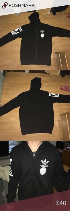 Adidas Original full zip hoodie I never wore it. I don't have the original tags adidas Sweaters Zip Up