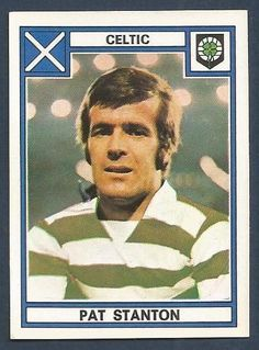 Pat Stanton of Celtic in Football Stickers, Football Cards, Baseball Cards, Celtic Fc, American Football, Glasgow, Scotland, Songs, Club