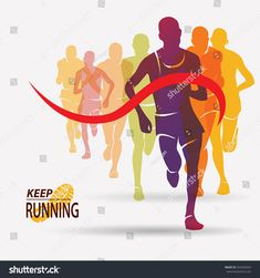 Find Running People Set Silhouettes Competition Finish stock images in HD and millions of other royalty-free stock photos, illustrations and vectors in the Shutterstock collection. Running Art, Running Posters, Sports Graphic Design, Vintage Graphic Design, Creative Flyer Design, Creative Flyers, Ab Workout At Home, At Home Workouts, Ab Workouts