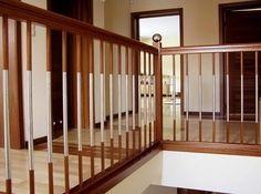balustrada pozioma kompozycja drewno=metal