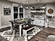 Looking for for pictures for farmhouse kitchen? Check out the post right here for perfect farmhouse kitchen inspiration. This specific farmhouse kitchen ideas appears to be terrific. Fall Fireplace, Farmhouse Fireplace, Diy Home Decor For Apartments, Fall Living Room, Farmhouse Living Room Decor, Farmhouse Dining Room Table, Trestle Dining Tables, Diy Dining Table, Country Dining Rooms