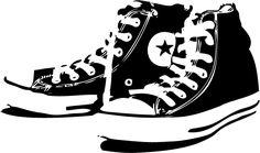 Wandtattoos - Kult Chucks Schuhe Wandaufkleber von DruckundPlot.de