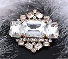 Strassbrosche Crystal/Kristallklar - Gablonz/Böhmen - Unikat - swa306