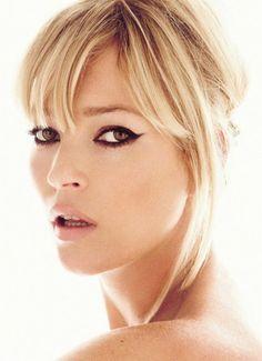 Kate Moss,   make up by Charlotte Tilbury