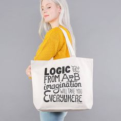 'Imagination' Big Canvas Bag