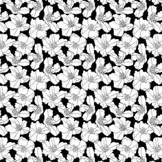 28 best floral print black white images on pinterest floral 021 floral print black white mightylinksfo