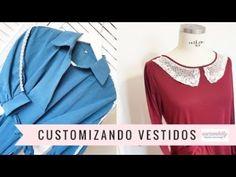 2 IDEAS PARA CUSTOMIZAR VESTIDOS - YouTube Ideas Para, Ruffle Blouse, Sewing, Youtube, Diy, Tops, Women, Fashion, Ropa Vieja