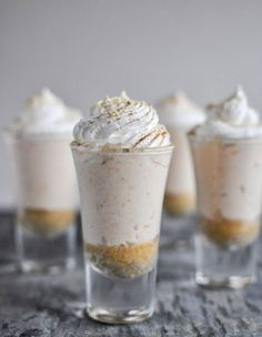 You may have had sweet potato pie, but have you ever tried a spud-based cheesecake? It may seem unusual, but one bite of this scrumptious mini-dessert will convince you that different can be delicious. Whip up these easy, autumnal shooters to ring in the school year and the start of a new season. Get the recipe at howsweeteats.com.