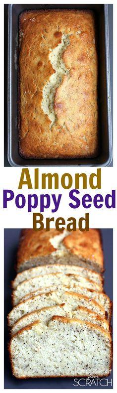 Almond Poppy Seed Bread from TastesBetterFromScratch.com