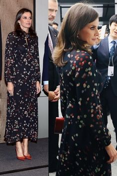 Spanish Queen Letizia ended South Korean State Visit on a Stylish and Elegant Note Princess Letizia, Queen Letizia, Spanish Queen, Royal Queen, Royal Clothing, Royal Dresses, Queen Dress, Princess Outfits, Zara