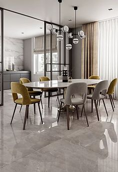 Trendy Contemporary Dining Room Ideas for Stylish Look Who doesn't want to have a modern and stylish dining room? Check this list of contemporary dining room ideas out that'll make you stunned! - Trendy Contemporary Dining Room Ideas for Stylish Look Classic Dining Room, Luxury Dining Room, Elegant Dining Room, Dining Room Design, Dining Rooms, Dining Table, Living Room Interior, Interior Design Living Room, Interior Modern