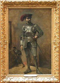 Camille COROT Paris, 1796 - Paris, 1875 L'Homme à l'armure, dit aussi Le Chevalier 1868