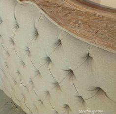 Bonito dise o de cabecero tapizado como tapizar un - Chinchetas para tapizar ...