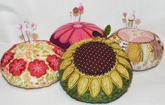 Variety of cute pincushions.