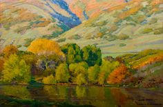 LeConte Stewart Utah Landscape~I saw this in person the other day. Juicy. Delicious!