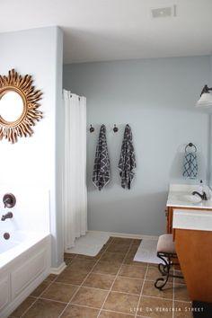 love the towel hooks instead of bar