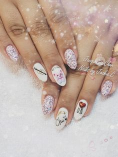 Valentine's nails design, check out my page on Instagram@ nailsjchan or www.nailsbyjackiec.com