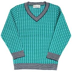 Simple Blue Triangle Sweater
