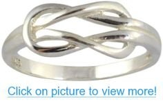 .925 Sterling Silver Infinity Love Knot Ring #Sterling #Silver #Infinity #Love #Knot #Ring
