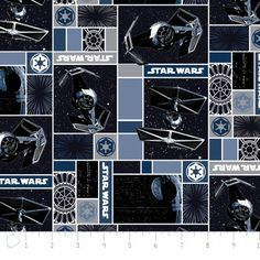 Camelot Cottons House Designer - Star Wars III - Imperial Ships in Blue Star Wars Quilt, Star Wars Fabric, Cool Beds For Boys, Cotton House, Disney Designs, Comic Book Covers, Blue Fabric, Sewing Patterns, Star Wars Party