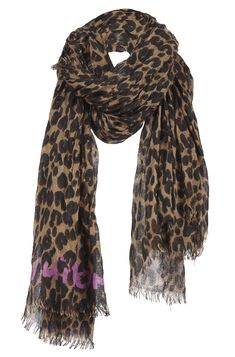 Louis Vuitton leopard print scarf. I want something like this for winter!