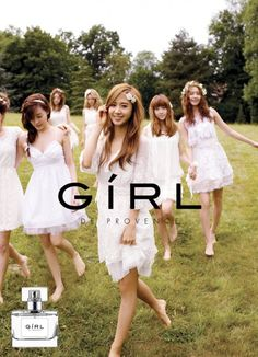 Girls' Generation poses for 'GiRL de Provence' Perfume