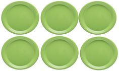 #Zak Designs Zakwave Microwave-Safe Dinner #Plate, Palm Green, Set of 6  This designs is fun, vibrant, versatile and a game changer. The look and durability of melamine with the function of going from the freezer to the microwave to the table.
