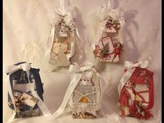 ▶ How to make Tim Holtz Rustic lantern Christmas gift and light boxes Tutorial - YouTube