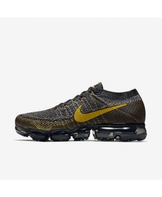 378d232663d Nike Air Vapormax Flyknit Blackdark Greymineral Gold Shoes