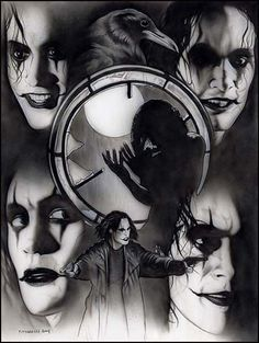 Brandon-Lee-The-Crow tattoo artwork The Crow, Brandon Lee, Bruce Lee, Crow Movie, I Movie, Stairway To Heaven, Corvo Tattoo, Horror, Crow Art