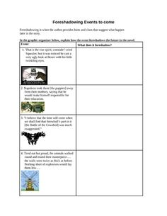 Foreshadowing Lesson Plans & Worksheets Reviewed by Teachers