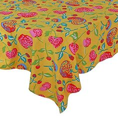 "Handmade Indian 38"" X 60"" Rectangular Tablecloth - Beautiful Blue , Maroon And Green Floral Cotton ShalinIndia http://www.amazon.com/dp/B00SWT2KZ4/ref=cm_sw_r_pi_dp_epM8vb0A64E2M"