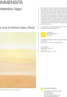 Immensità di Valentino Vago, Fondazione Antonio e Carmela Calderara, Vacciago di Ameno (NO)