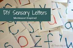 DIY Sensory Letters - Raised alphabet for learning the correct formation of letters inspired by Montessori sandpaper letters.