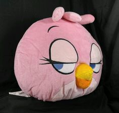 """Rovio Angry Birds Space """"Pink Bird"""" Potbellie Character Pillow 13"""" X 15"""" #AngryBirds"""