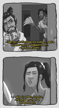 hanzo needs to chill and accept his brother genji as The Best