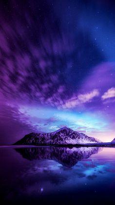 Blue and purple wallpaper Cute Galaxy Wallpaper, Night Sky Wallpaper, Wallpaper Space, Sunset Wallpaper, Purple Wallpaper, Scenery Wallpaper, Landscape Wallpaper, Cute Wallpaper Backgrounds, Pretty Wallpapers