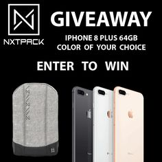 Help me to win this iPhone 8 Plus Giveaway from @Nxtpack.  By the way, their backpack looks really cool, check it out  https://www.kickstarter.com/projects/1213118284/936474414?ref=360550&token=27e5eebc