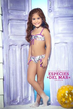 Dress your toddler in Mar de Rosas Especies del Mar bathing suit set. This sweet little bikini is perfect for that mini fashionista. Soft colors and exotic sea creatures make this bikini something special. The top has some cool features to keep you and your princess comfortable. The top fits like a bandeau with secured straps. Convenient drawstrings in the front of the bikini allows you to adjust the amount of coverage. If you want full coverage release the drawstring.