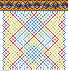Friendship bracelet pattern 64057 -  36 strings, 6 colours new