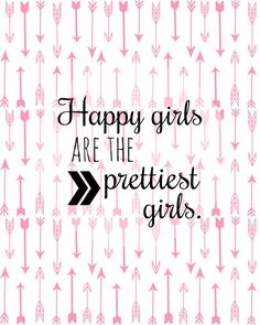 "free printable ""Happy girls are the prettiest girls"" Audrey Hepburn"