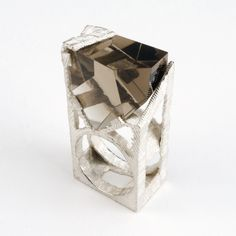Ring by Hector Lasso. Silver and Smokey Quartz