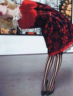 Raquel Zimmermann in 'Art and Commerce' Photographers: Inez van Lamsweerde and Vinoodh Matadin Dress: Erdem F/W 2009/10 W Magazine October 2...