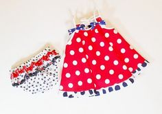 Baby Toddler Girl PATRIOTIC DRESS and RUFFLE by SewSweetStitchery, $27.00