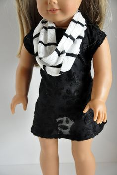 American Girl Doll Clothes  Stylish Black Knit by CircleCSewing, $14.00