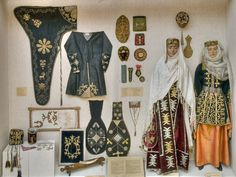 Gold thread embroidery was considered one of the most difficult and demanding women's crafts. [ …] clothing was decorated with lace, braid, cord, braided strands of plungers. Golden embroidery was applied on various Caucasian ornaments, with each nation having their own peculiarities.