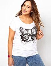 New Look Inspire Cat Glasses T-Shirt